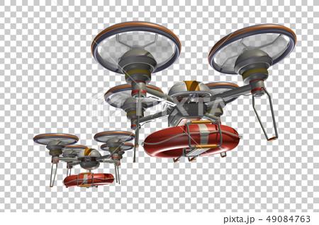 救援無人機(帶浮筒和透明材料) 49084763
