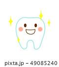 歯 キラキラ キャラクターのイラスト 49085240