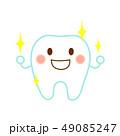 歯 キラキラ キャラクターのイラスト 49085247