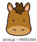 うま 馬 動物のイラスト 49091884