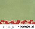 牡丹 和 緑のイラスト 49096916