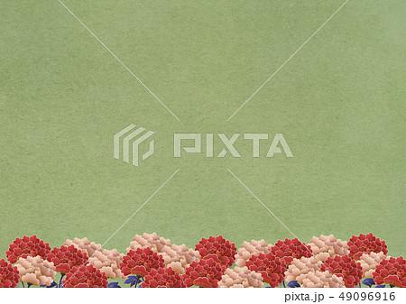 背景素材-牡丹-日本画-抹茶色の和紙 49096916