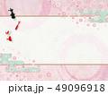 和モダン-桜-金魚-背景素材-春 49096918