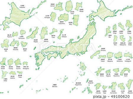 日本地図クレヨンc 49100620
