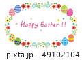 花 イースター イースターエッグのイラスト 49102104