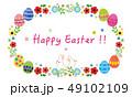 花 イースター イースターエッグのイラスト 49102109