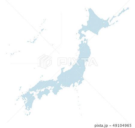 青のドットマップ 日本列島 中サイズ 2 49104965