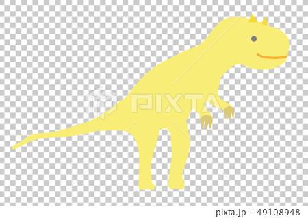 ゆるっとかわいい恐竜 アロサウルス ベクター素材  49108948