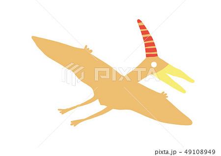 ゆるっとかわいい恐竜 プテラノドン ベクター素材  49108949