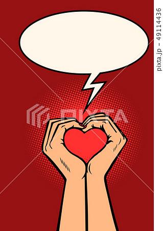 heart love hands gesture 49114436