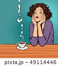 女性 不幸 ひとりぼっちのイラスト 49114446