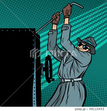 spy breaks into safe 49114455