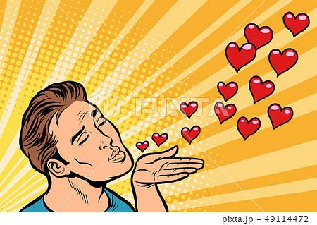 man air kiss heart 49114472