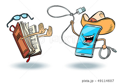 Smartphone versus books. Literature and love of reading and modern technology 49114607