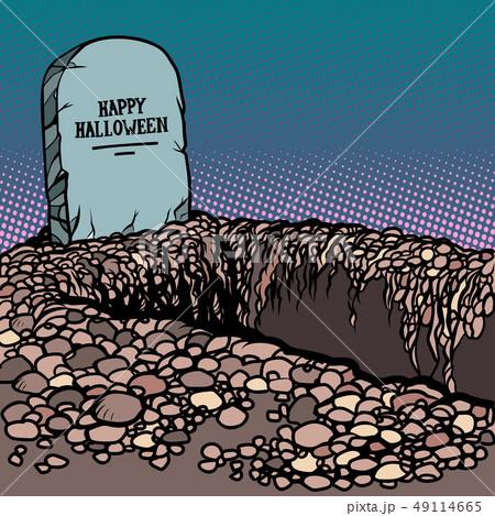 happy Halloween grave 49114665