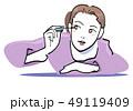 マスカラ 化粧 メイクのイラスト 49119409