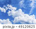 青空と空の背景素材 暑中見舞い テンプレート 49120625