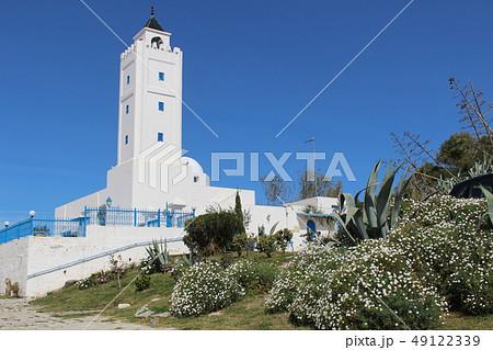 シディ・ブ・サイドの町並み チュニジア チュニス アフリカ 49122339