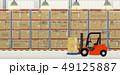 フォークリフト 流通 配達のイラスト 49125887