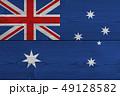 Australia flag painted on old wood plank 49128582