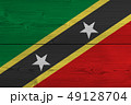 Saint Kitts and Nevis flag painted on old wood 49128704