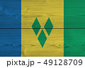 Saint Vincent and the Grenadines flag painted on 49128709