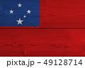 Samoa flag painted on old wood plank 49128714