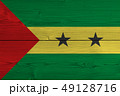 Sao Tome and Principe flag painted on old wood 49128716