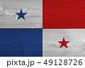 Panama flag painted on old wood plank 49128726