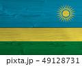 Rwanda flag painted on old wood plank 49128731