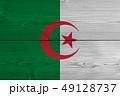 algeria flag painted on old wood plank 49128737