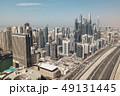 Aerial view of Dubai Marina district 49131445