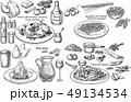 レシピ 作り方 ベクトルのイラスト 49134534