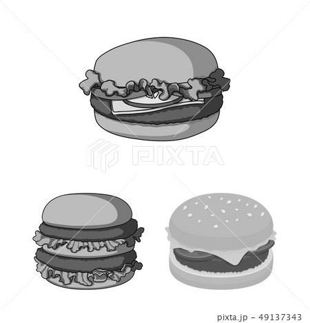 Vector illustration of sandwich and wrap logo. Set of sandwich and lunch stock symbol for web. 49137343