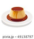 プリン 洋菓子 プディングのイラスト 49138797