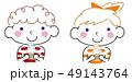 青い目のソフトクリーム坊や&ガール 赤✖黄 49143764