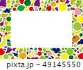 季節のフルーツイラストフレーム 49145550