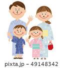 ポップな家族 浴衣でおでかけ 49148342