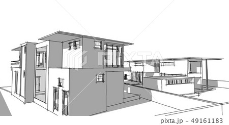 Abstract architectral drawing sketch,Illustration 49161183