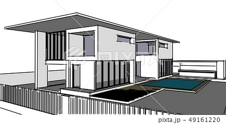 Abstract architectral drawing sketch,Illustration 49161220