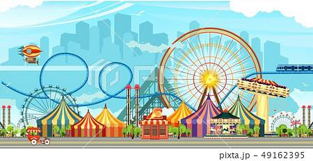 Amusement park circus 49162395