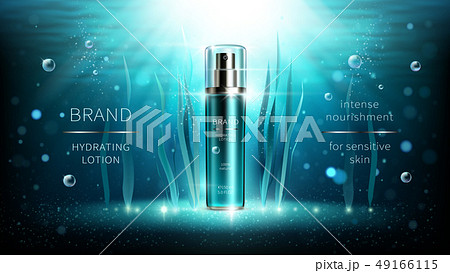 Natural algae vector cosmetic realistic ads poster 49166115