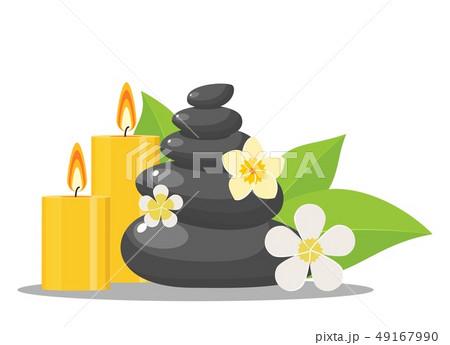 zen stones and flowers 49167990