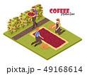 コーヒー 農耕 生産のイラスト 49168614