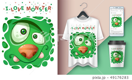 Cute monster - mockup for your idea 49176283
