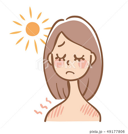 日焼け 女性 直射日光 49177806