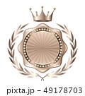 王冠 メダル 銀のイラスト 49178703