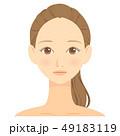 女性 顔 ビューティーのイラスト 49183119