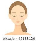 女性 顔 ビューティーのイラスト 49183120