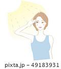 女性 笑顔 夏のイラスト 49183931